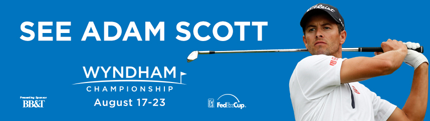 Wyndham Championship Outdoor board - Adam Scott