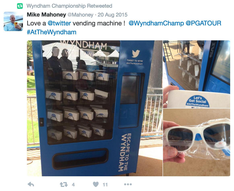 Wyndham Championship - Twitter machine Tweet