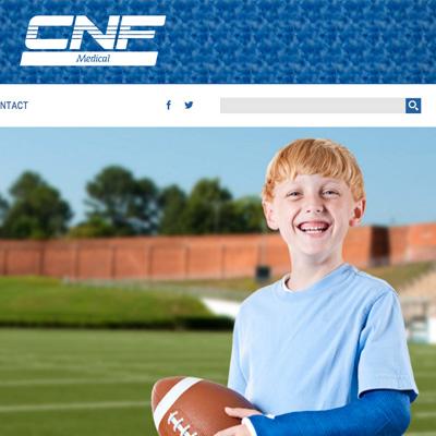 CNF Medical - responsive website cover