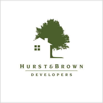 Hurst & Brown Developers logo design cover