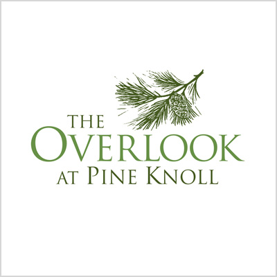 The Overlook at Pine Knoll logo design cover