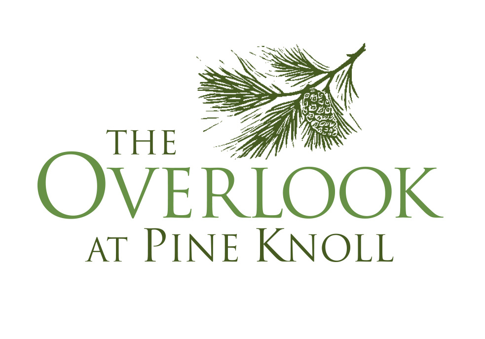 The Overlook at Pine Knoll logo design