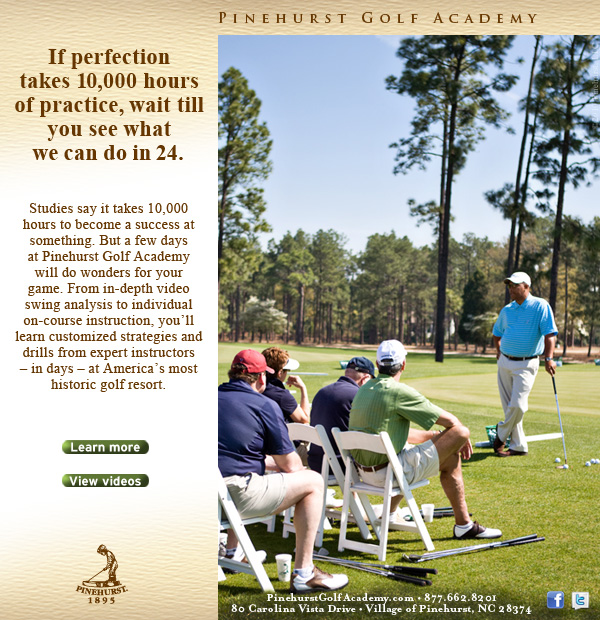 Pinehurst Golf Academy 10,000 email