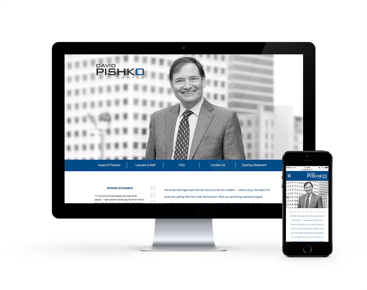 David Pishko Lawyer - responsive website