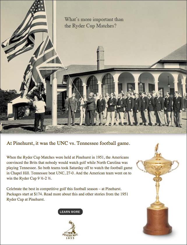 Pinehurst Resort Ryder Cup email