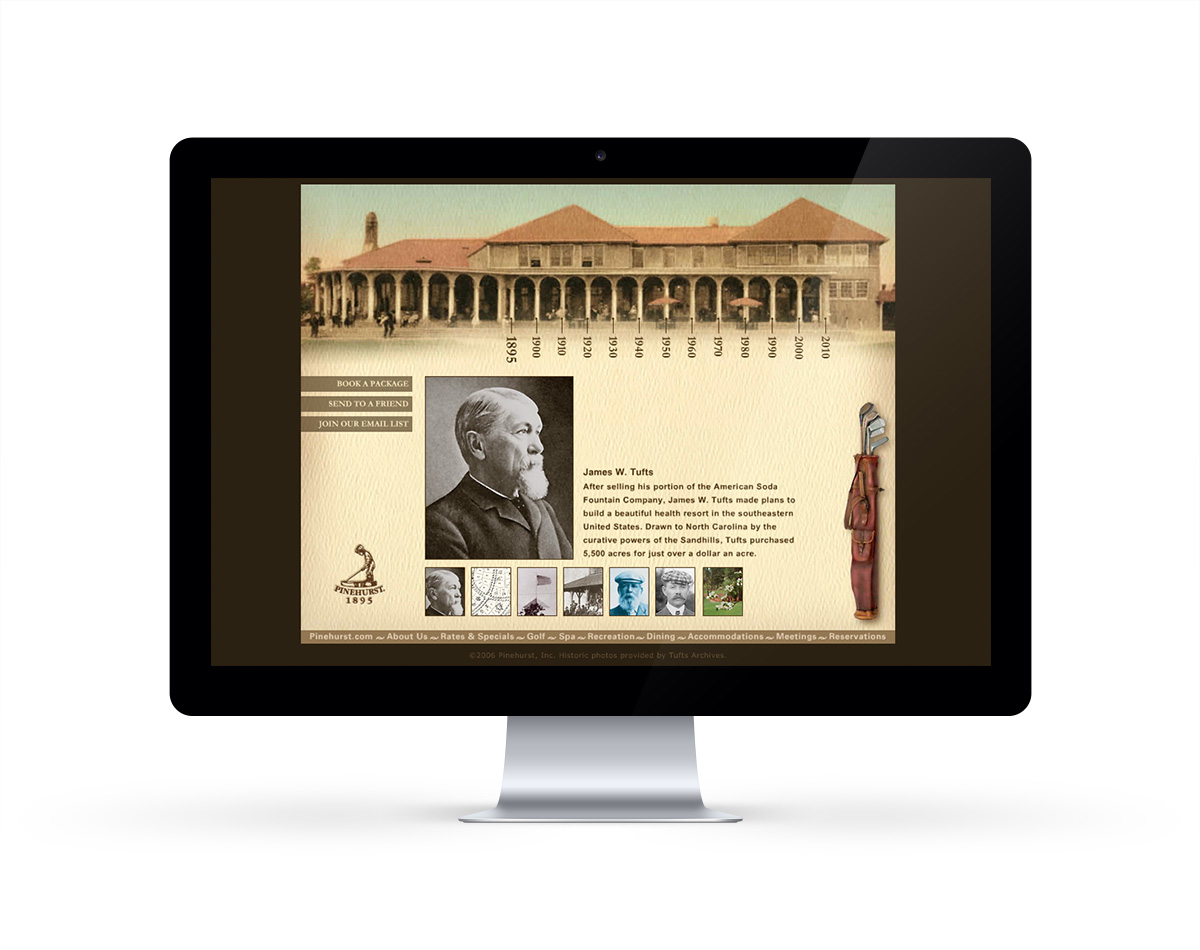 Pinehurst Resort - Since 1895 website