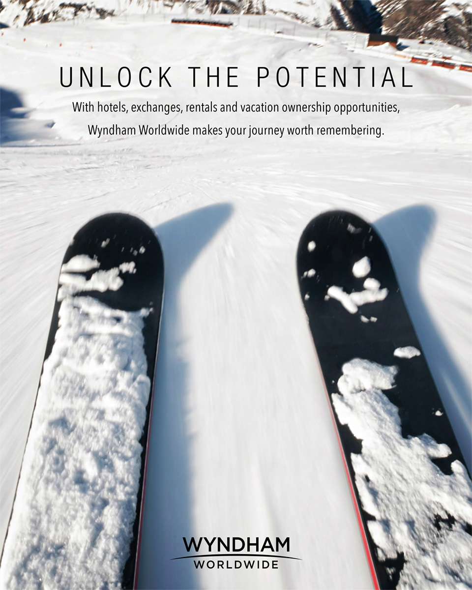 Wyndham Worldwide - Unlock the potential - floor decal - slope