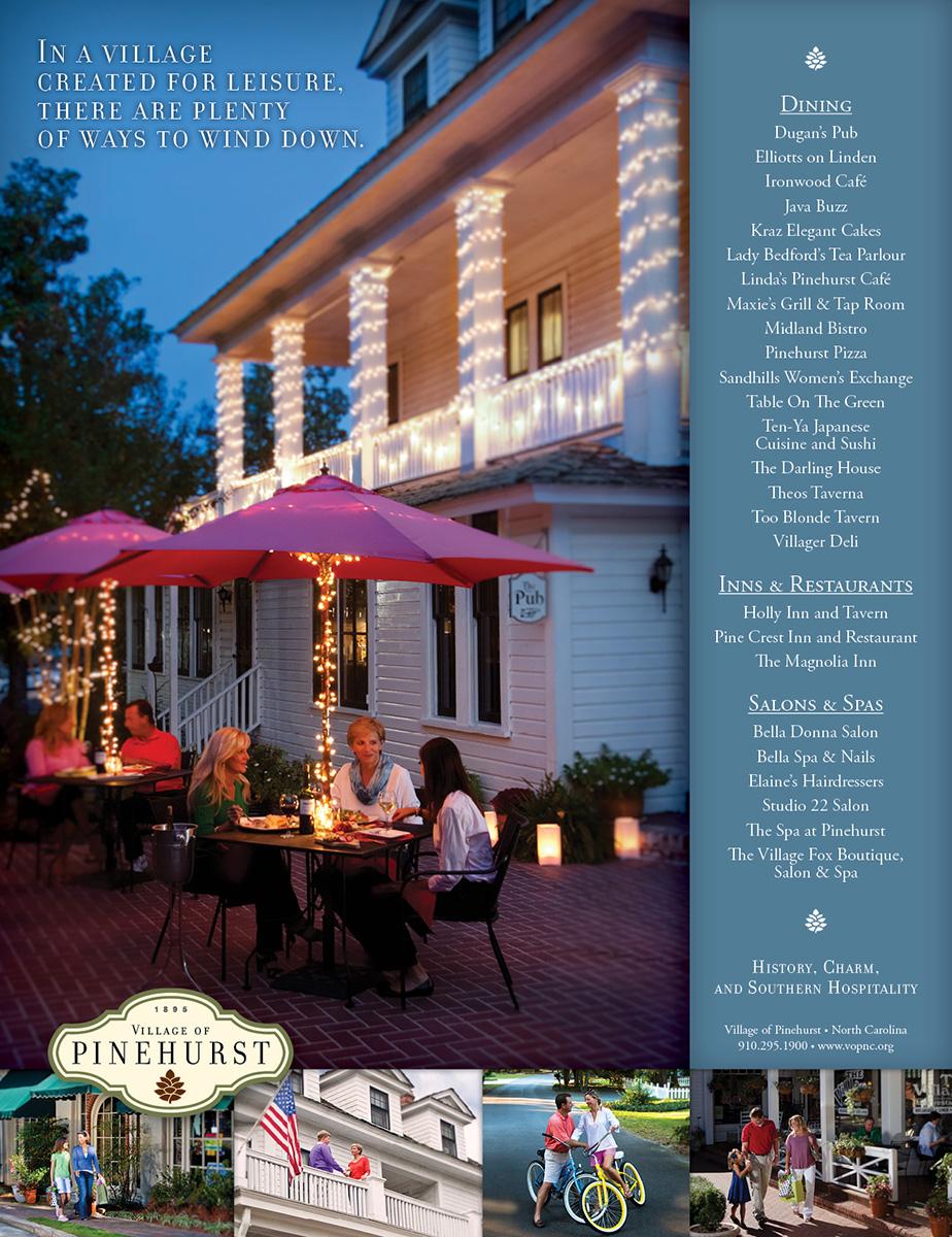 Village of Pinehurst Dining ad