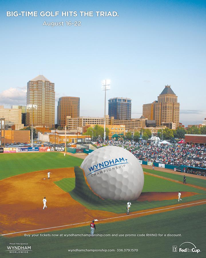 Wyndham Championship - Piedmont Triad golf ad - Baseball Stadium