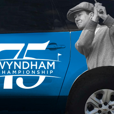 Wyndham Championship - Car wrap design - cover