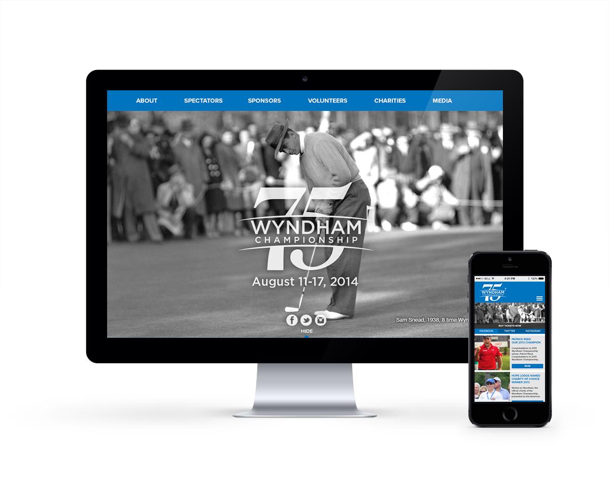 Wyndham Championship - responsive website
